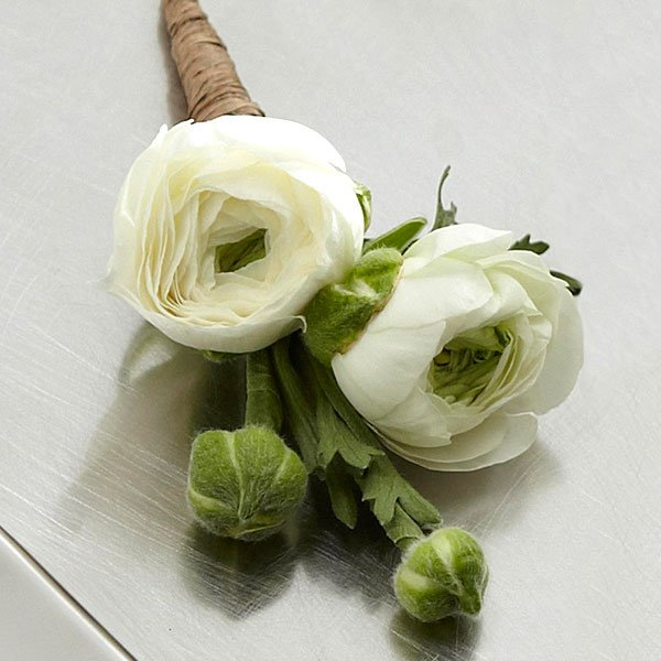 Boutonniere  Rannculo Blanco